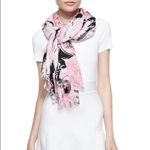Kate Spade pink feather scarf